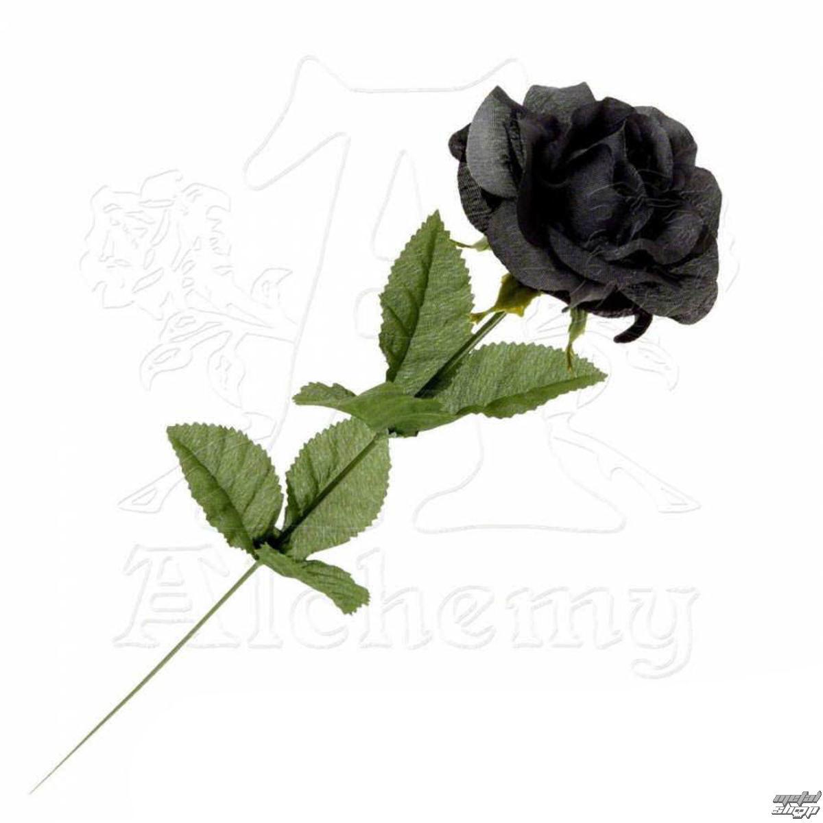 černá růže Black Imitation Rose - Alchemy Gothic - ROSE 1