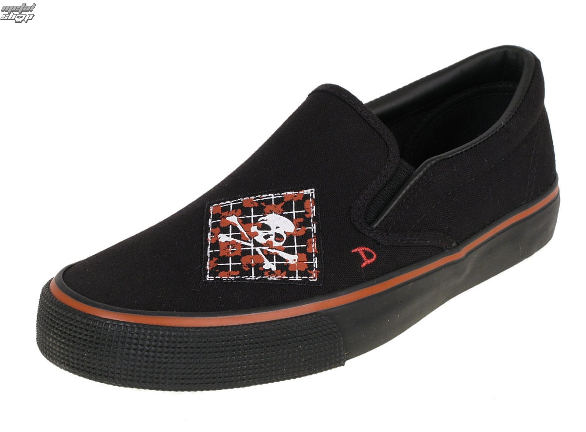 boty DRAVEN - Argyle Patch Slip on - MCDR 860 - BLK Black
