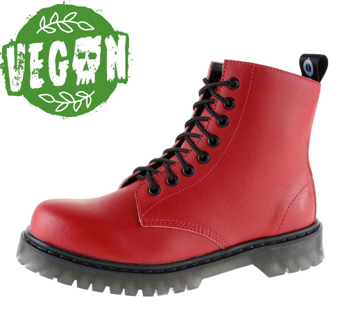 2edb0f022d3 boty dámské 8 dírkové ALTERCORE - Vegetarian - Red - 651 - metalshop.cz