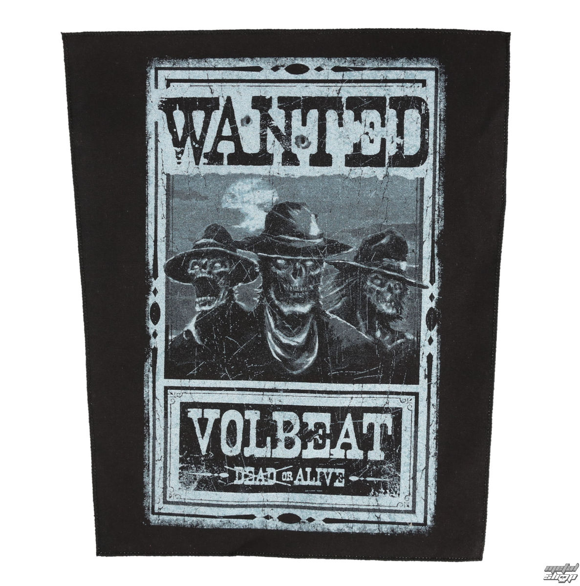 nášivka VOLBEAT - WANTED - ROCK OFF