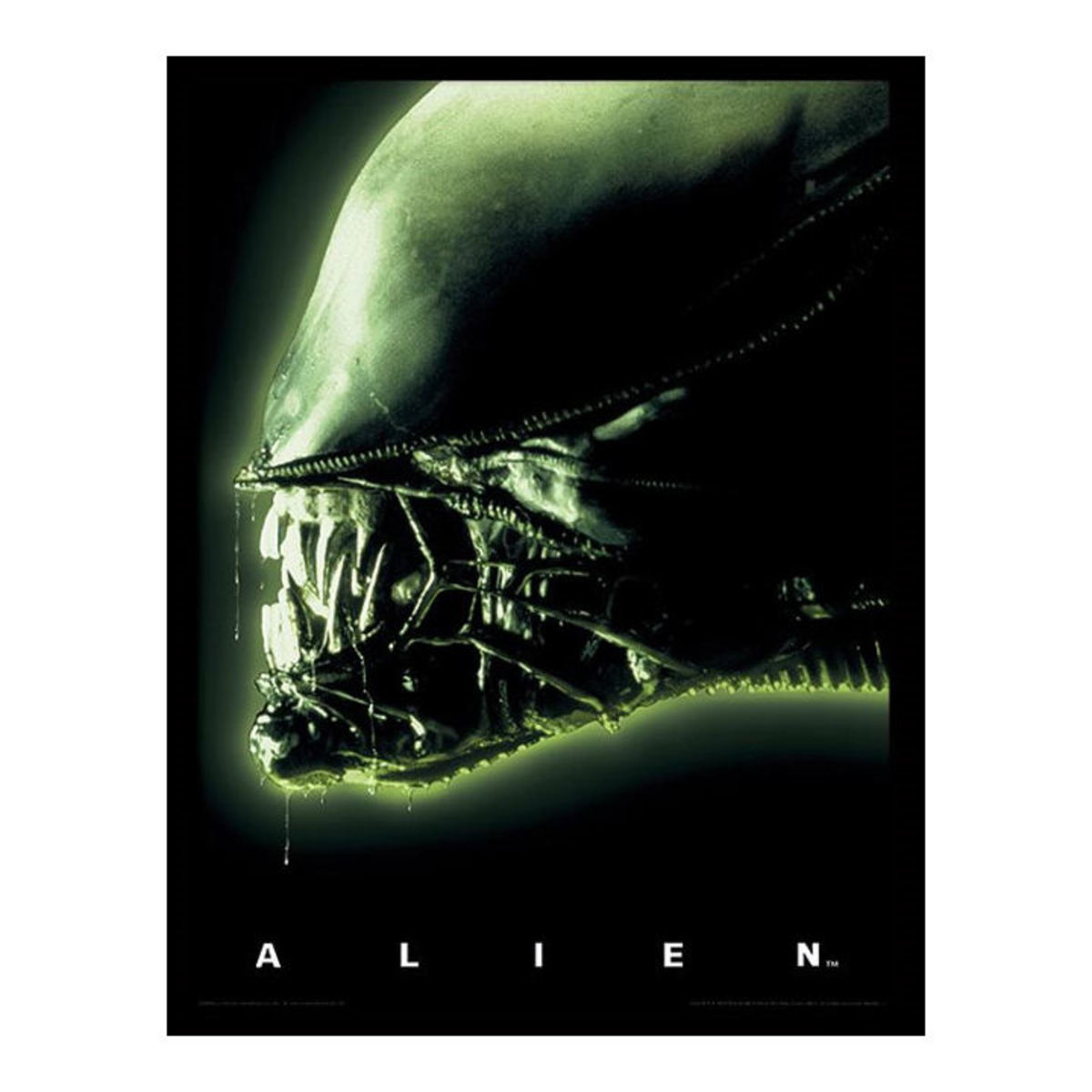 obraz PYRAMID POSTERS Alien Head-Green