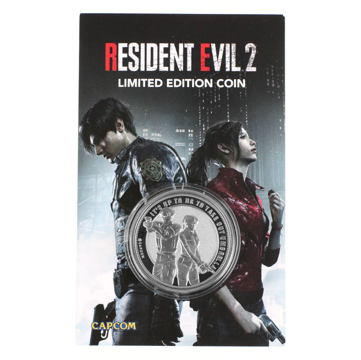 mince Resident Evil 2 - Collectable Coin Leon & Claire Silver Edition - FNTK-RE201