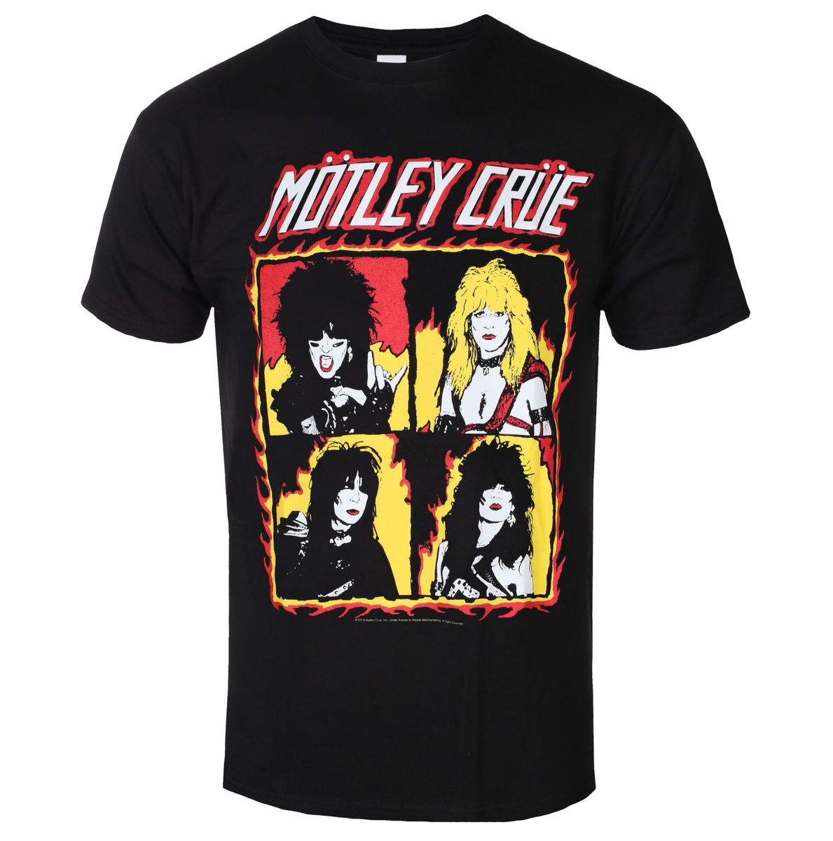 tričko pánské Mötley Crüe - Shout At The Devil Flames - ROCK OFF - MOTTEE37MB