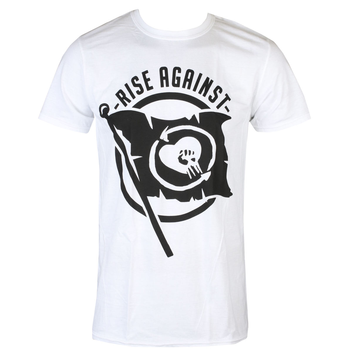Tričko metal KINGS ROAD Rise Against Flag černá XL