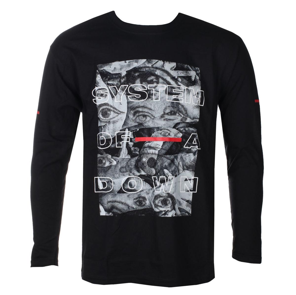 tričko pánské s dlouhým rukávem System Of A Down - Eye Collage - ROCK OFF - SOADLST13MB