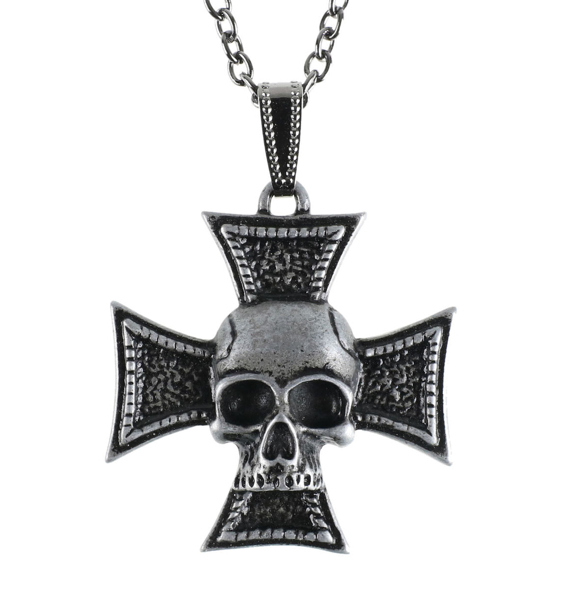 obojek Cross skull - LSF4 40