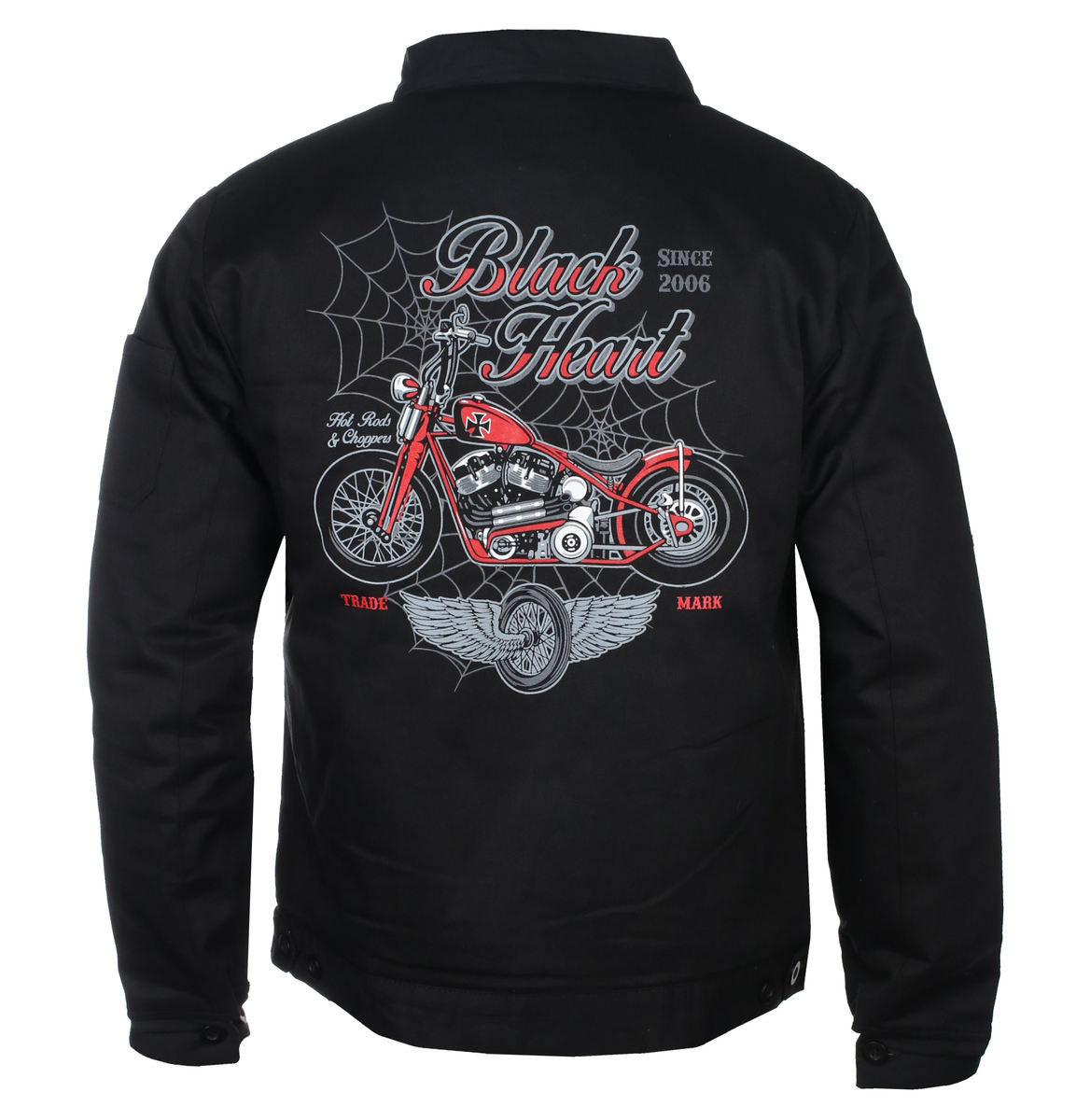 bunda jarněpodzimní BLACK HEART RED BARON CHOPPER M