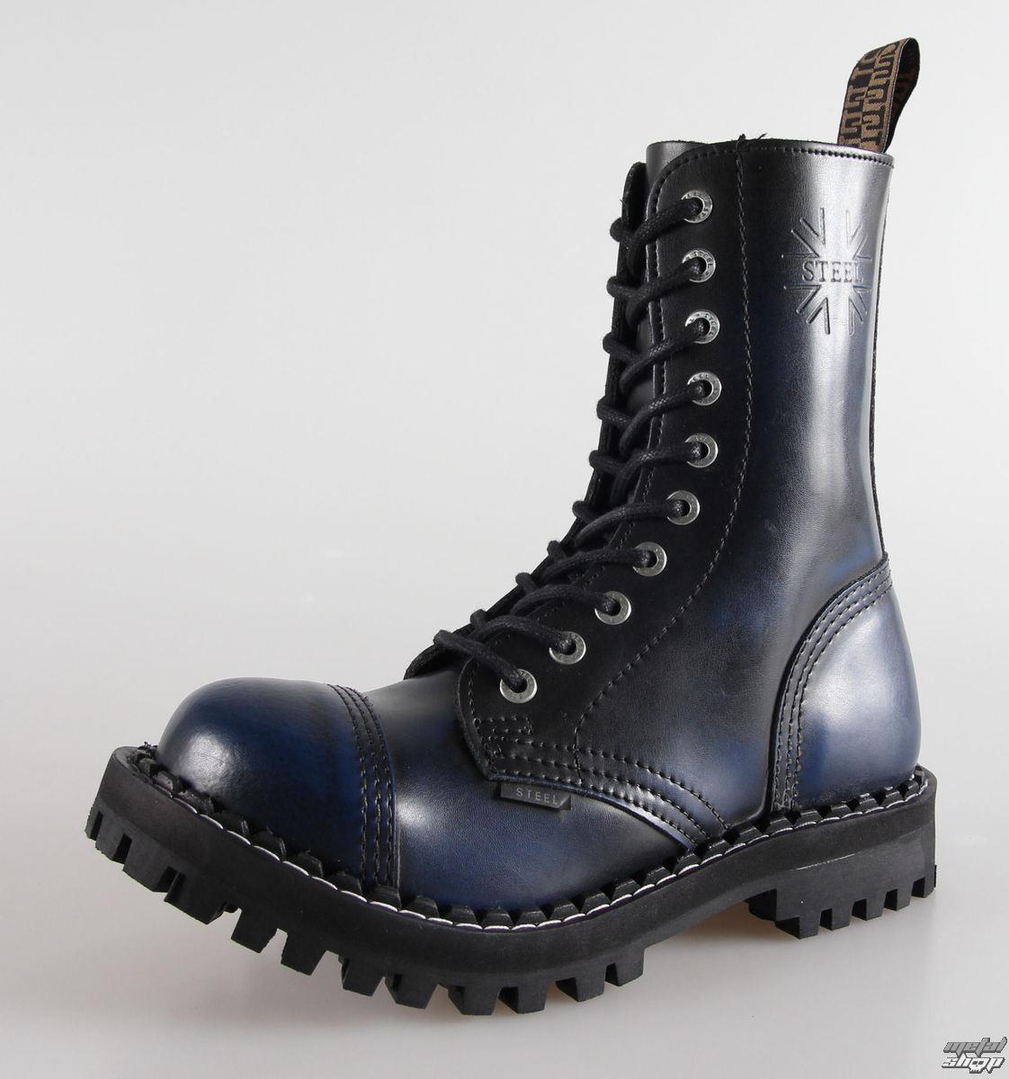boty STEEL - 10 dírkové modré (105/106 Blue)