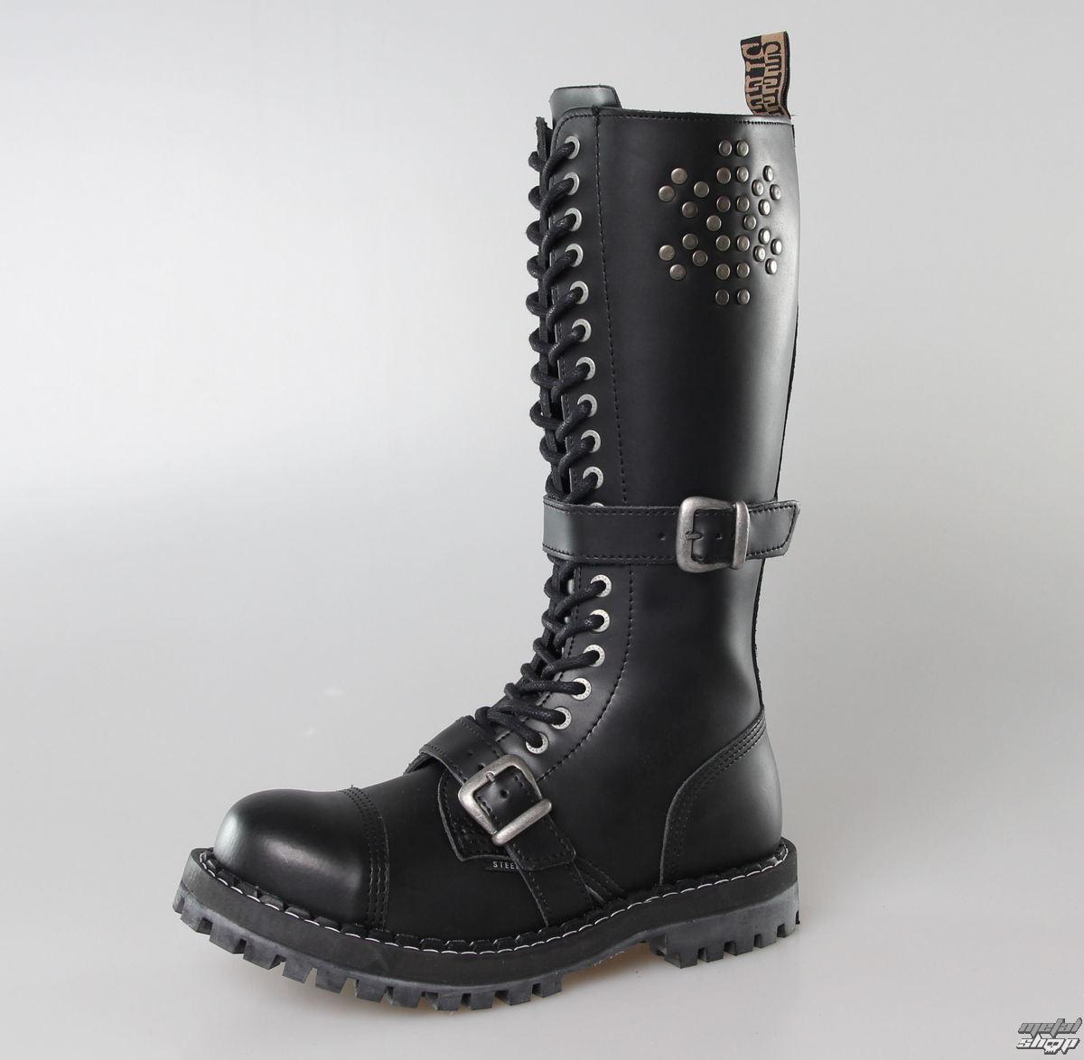 boty STEEL - 20 dírkové Rivets Black