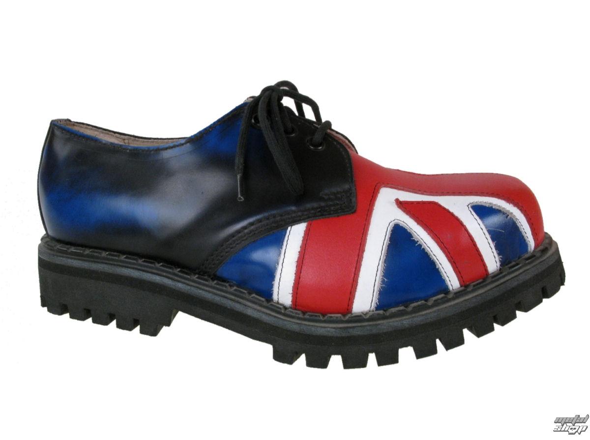 boty STEEL - 3-DÍRKOVÉ (101/102) - UK. Flag