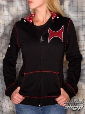 mikina dámská TAPOUT - GH3018 BLACK Girl's Stitches Zip Up Hoody