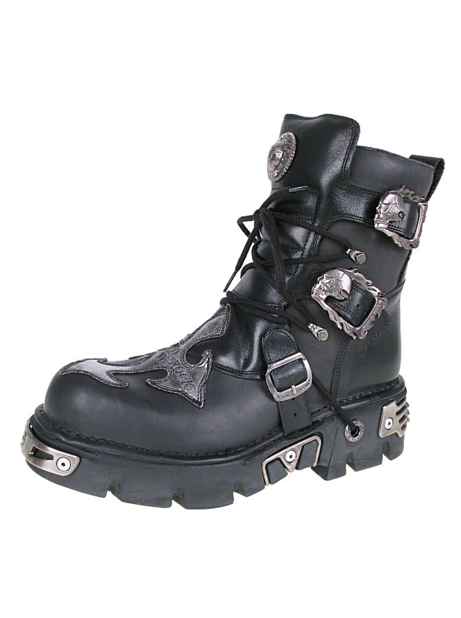 boty NEW ROCK - Cross Shoes (407-S1) Black-Grey - N-8-54-700-08