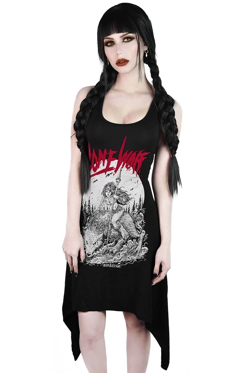 šaty KILLSTAR Lonewolf Lace-Up XS