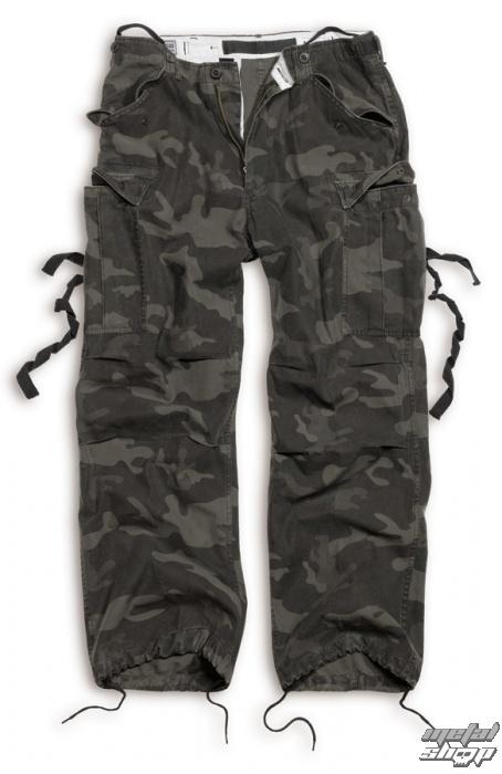 kalhoty SURPLUS - Vintage - BLACK CAMO - 05-3596-42