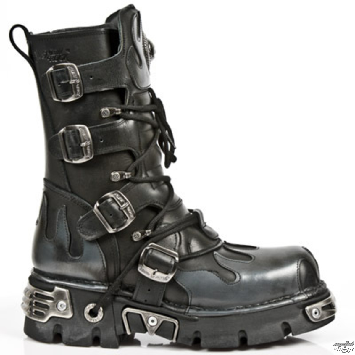 boty NEW ROCK - Flame Boots (591-S2) Black-Grey