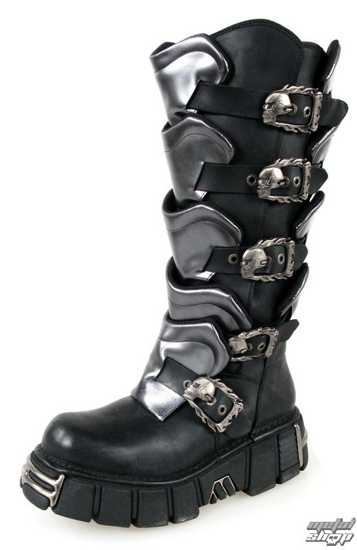 boty NEW ROCK - Gladiator Boots (738-S1) Black-Grey