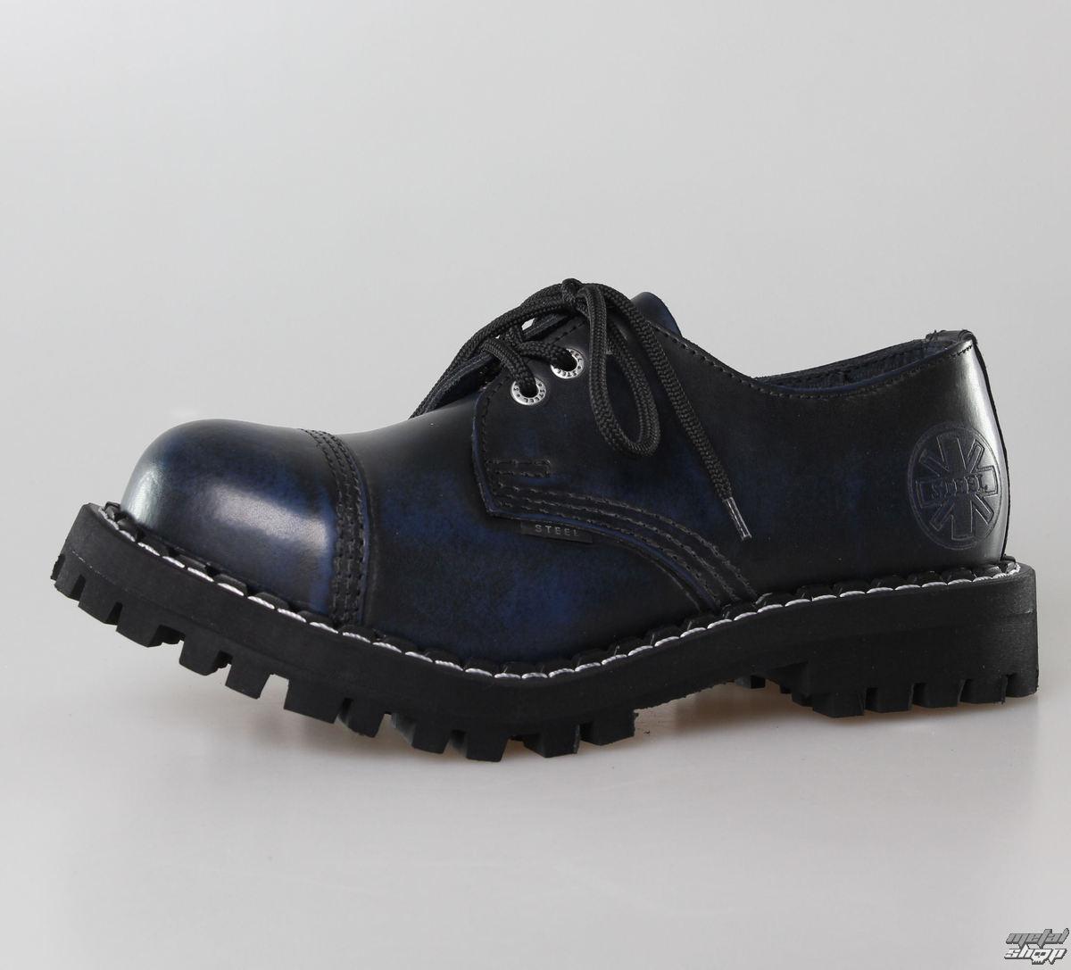 boty STEEL - 3 dírkové modré (101/102 Blue)