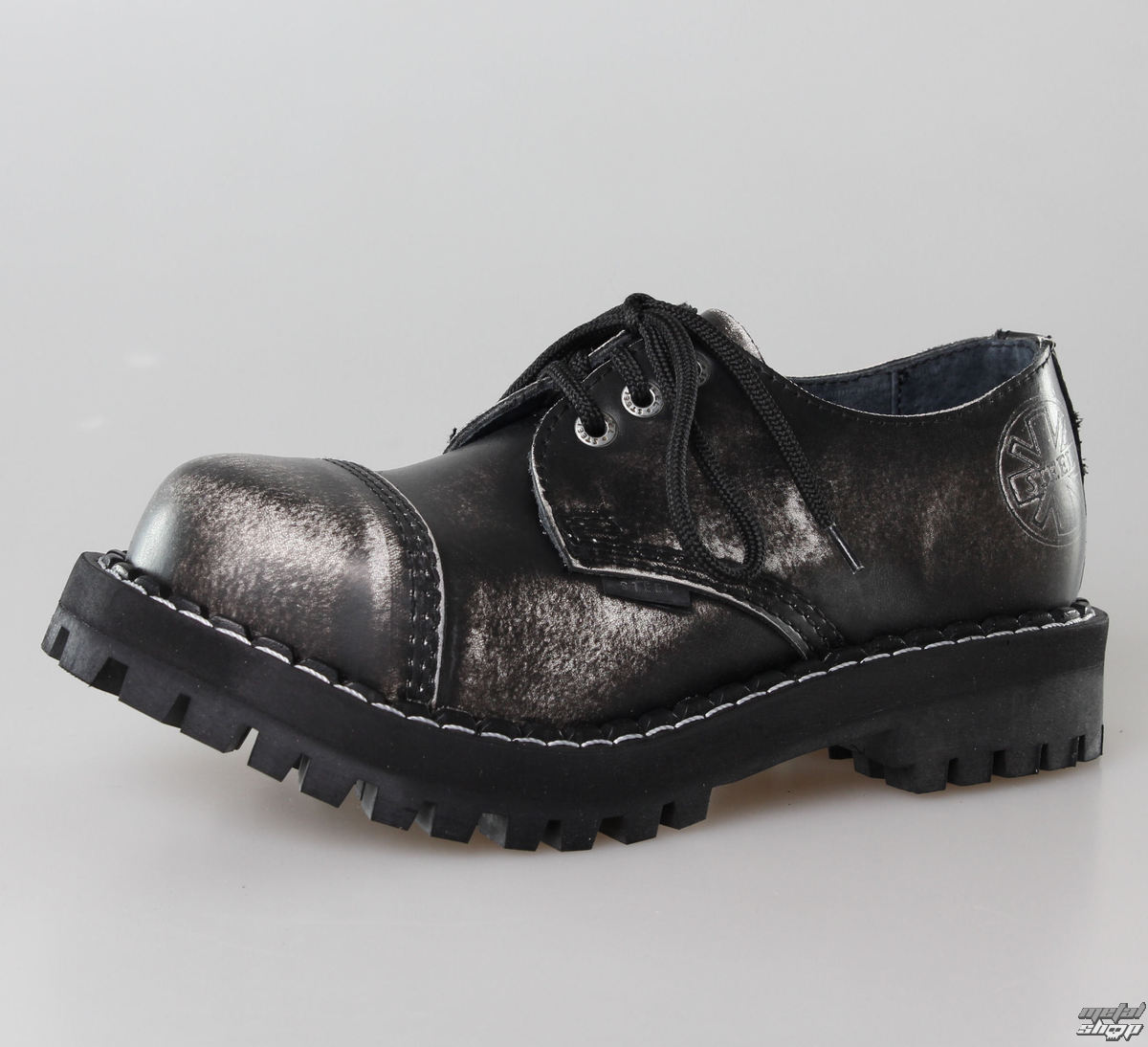 boty STEEL - 3 dírkové šedé (101/102 White)