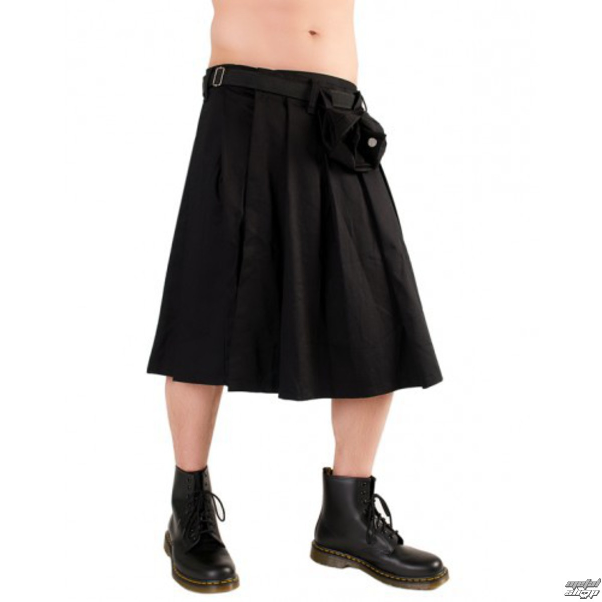 kilt BLACK PISTOL Short Kilt Denim Black S