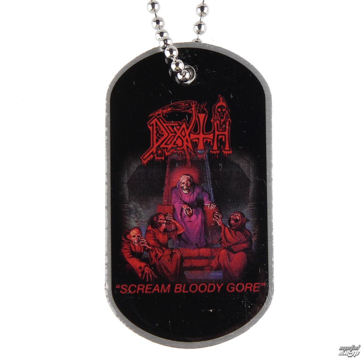 """obojek """"psí známka"""" Death - Scream Bloody Gore - DT017 - RAZAMATAZ"""