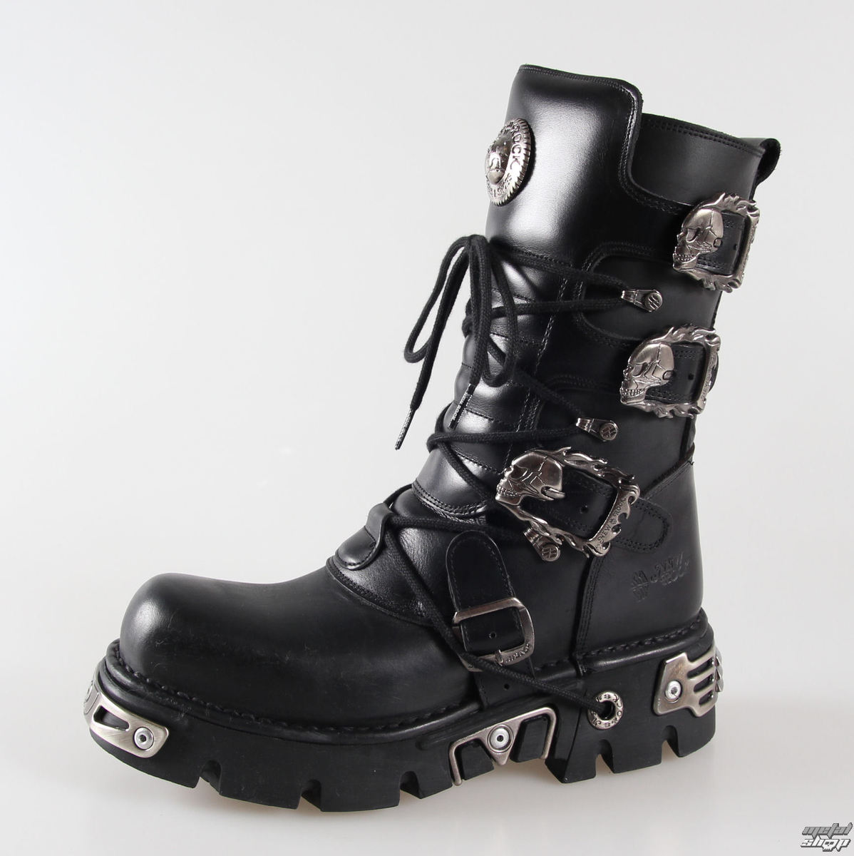 b918feacd09 Boty New rock - Metal Boots (391-S1) Black - metalshop.cz