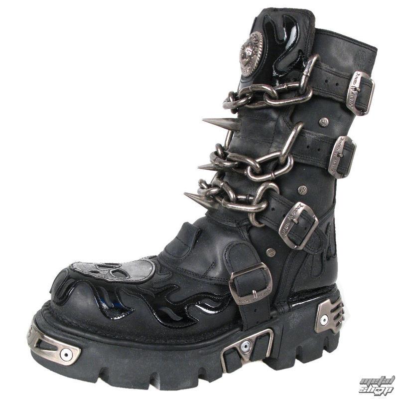 a731a5911b4 Boty New rock - Chain Boots (727-S1) Black - metalshop.cz