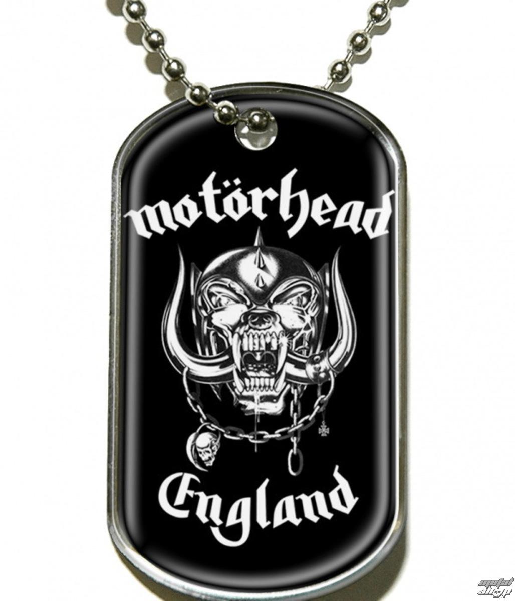 """obojek """"psí známka"""" Motörhead """"England"""" - DT019 - RAZAMATAZ"""