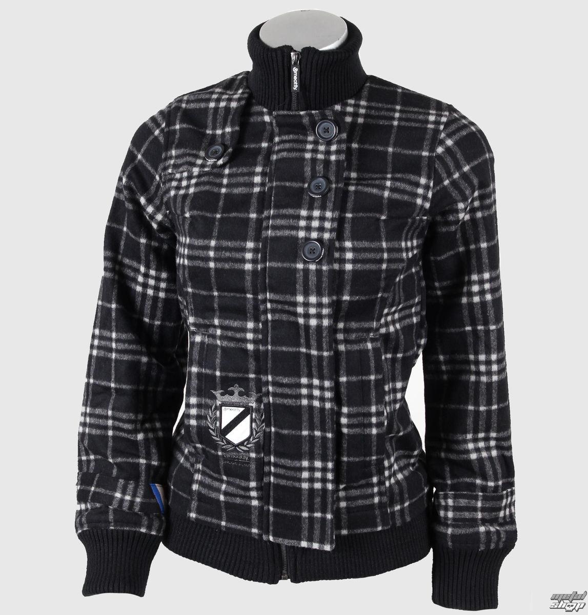 bunda dámská jarně/podzimní MEATFLY - Moloko WMNS - C - BLACK-GREY PLAID