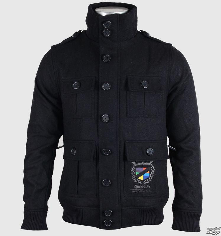 bunda pánská jarně/podzimní (látková) MEATFLY - Empire - A - BLACK