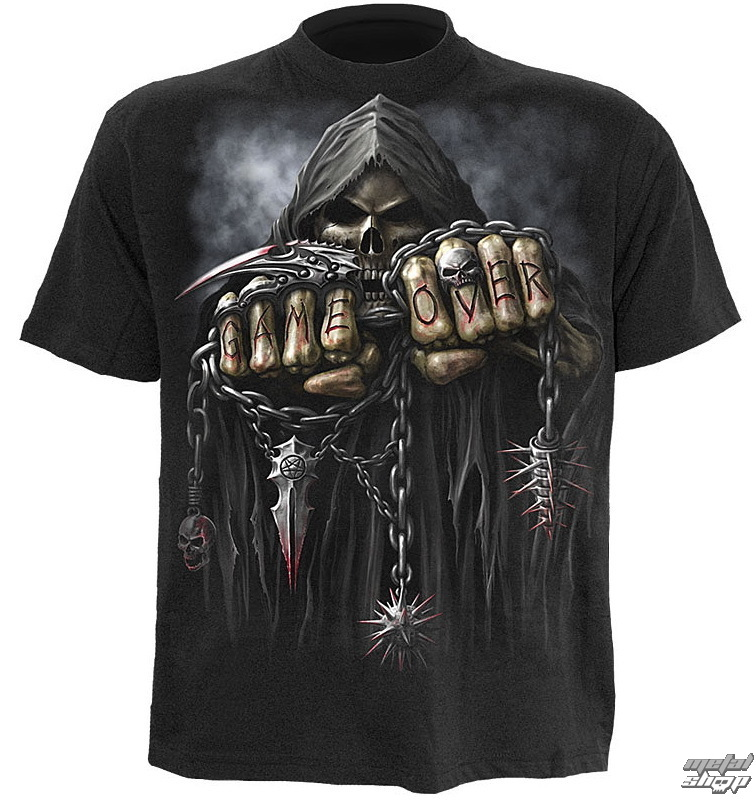 tričko pánské SPIRAL- Game Over - Black - T026M101