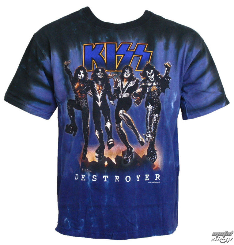 tričko pánské Kiss - Destroyer - LIQUID BLUE - 11907