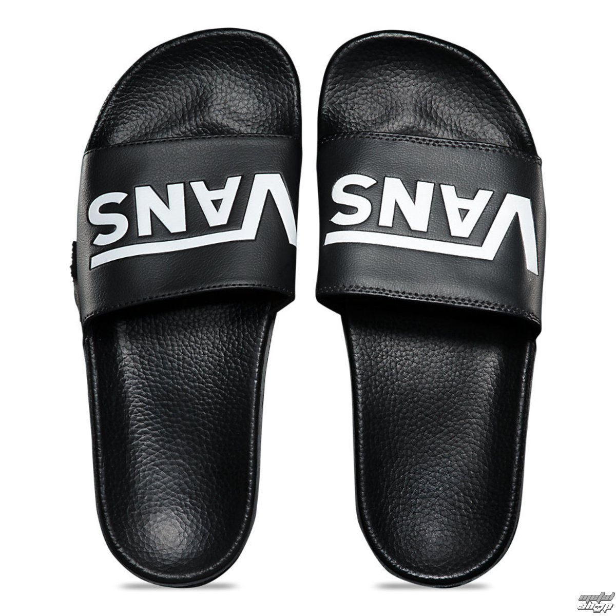 žabky unisex - MN SLIDE-ON (VANS) BLACK - VANS - VN0004KIIX61