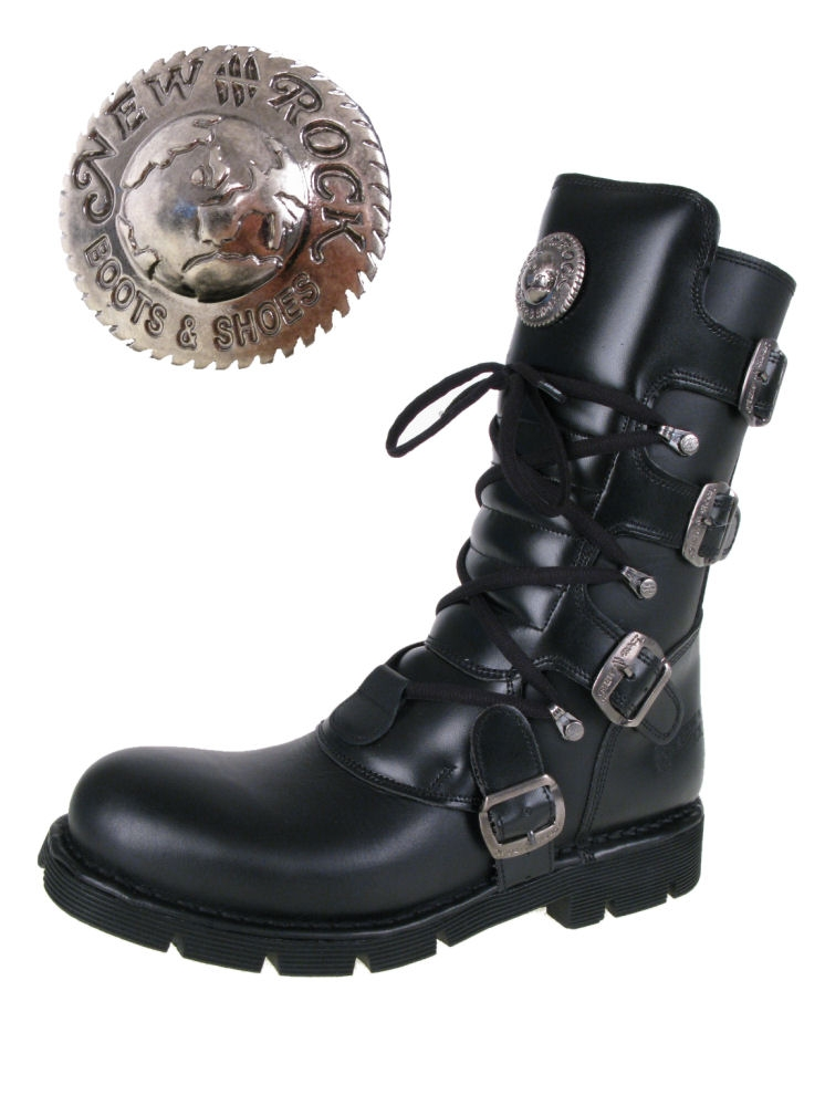 boty NEW ROCK - Flat Classic Boot (1473-S1) Black - N-8-44-700-00