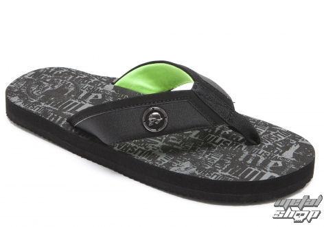 sandály pánské METAL MULISHA - Diverge - Black W/Green - M11584100