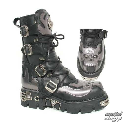 Boty New rock - Vampire Boots (107-S2) Black-Grey
