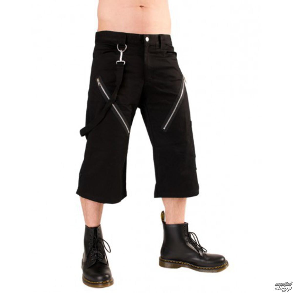 kraťasy 3/4 pánské Black Pistol - Zip Short Pants Denim Black - B-1-45-101-00