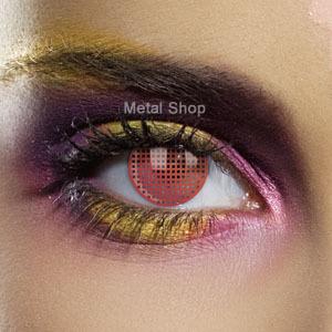 set kontaktní čočka RED MESH a desinfekční sada - EDIT - 80541