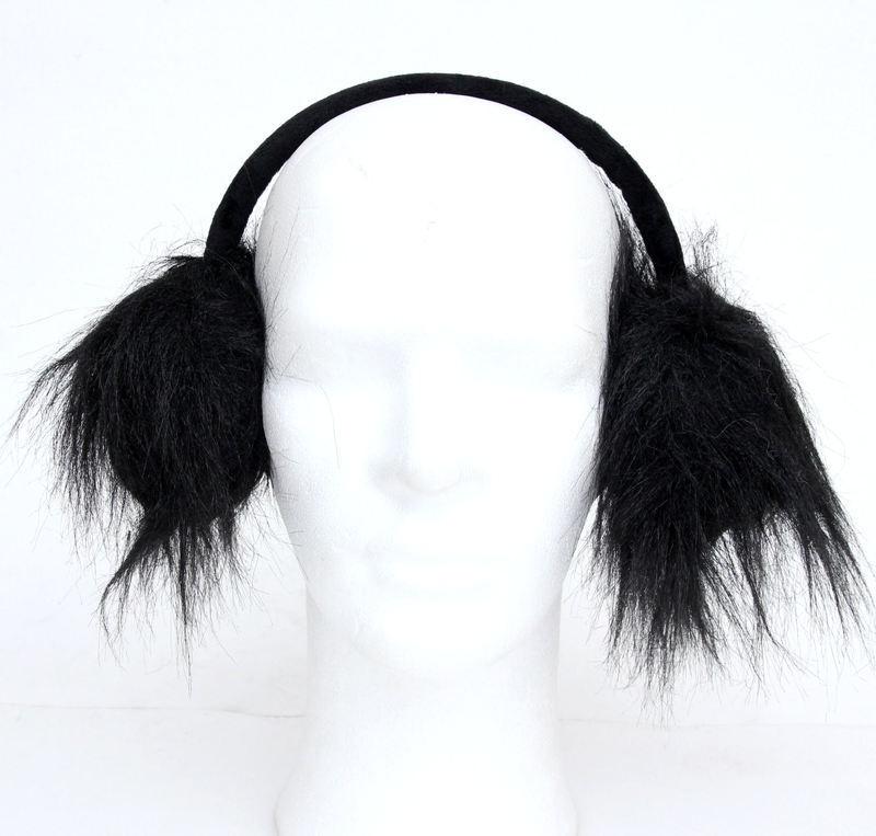 klapky na uši POIZEN INDUSTRIES - Fur Muffs - Black