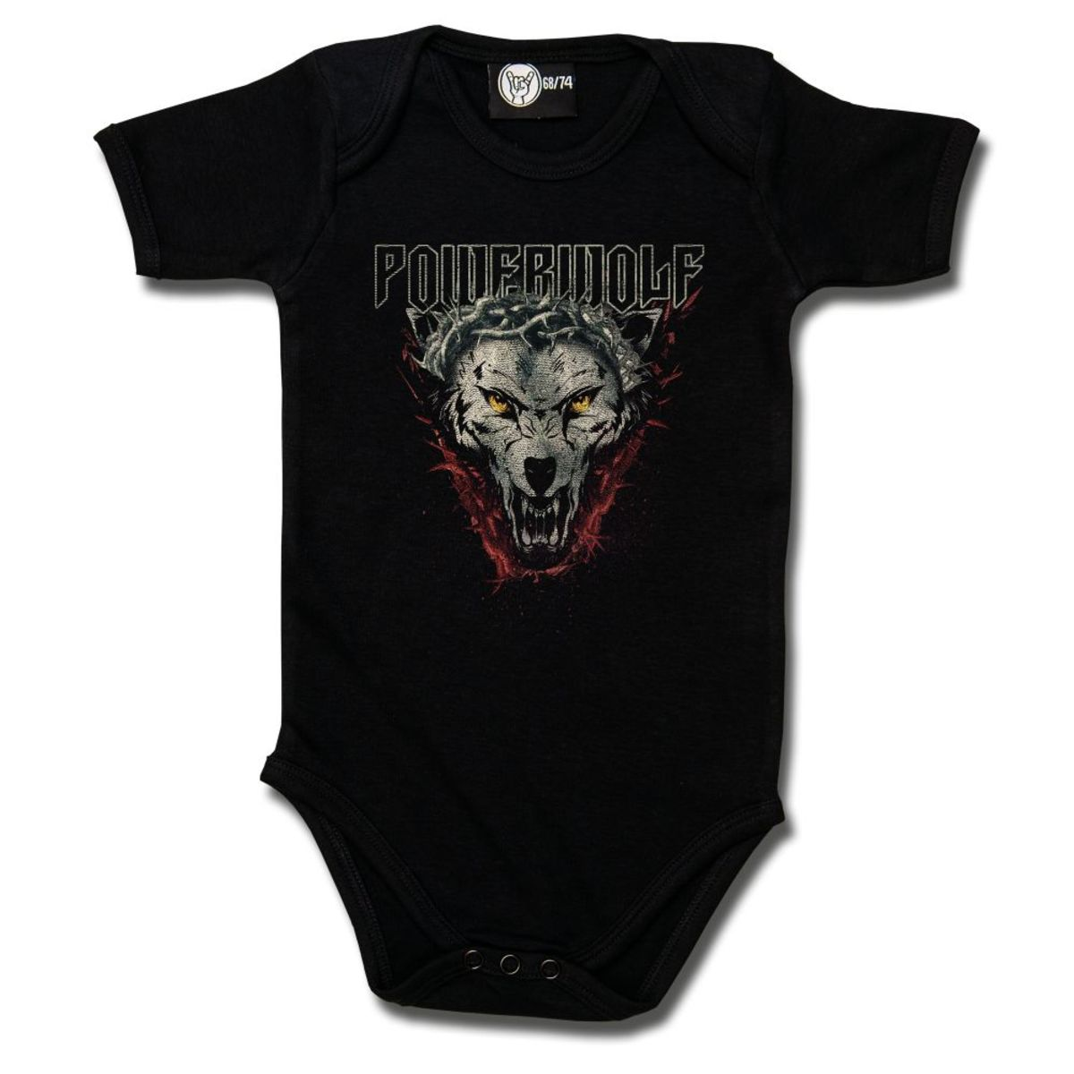 body dětské Powerwolf - (Icon Wolf) - black - Metal-Kids - 574-30-8-999