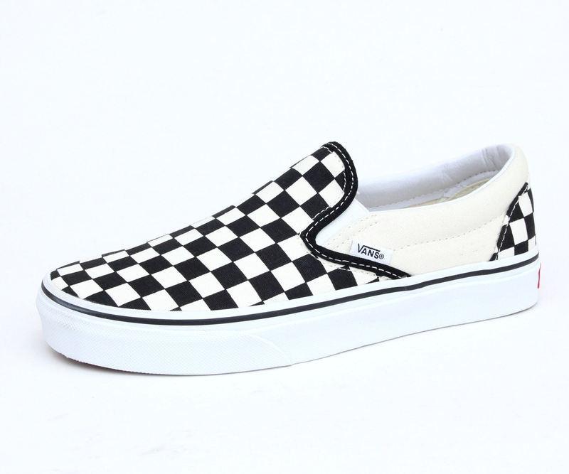 boty VANS - Classic Slip On - Black And White Checker - White - VEYEBWW