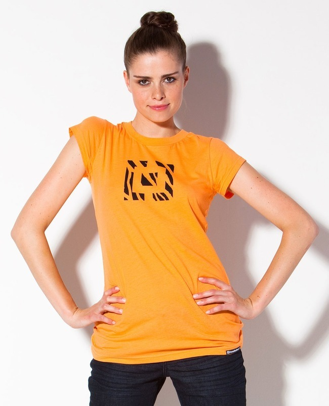 tričko dámské HORSEFEATHERS - Wild Logo - NECTARINE