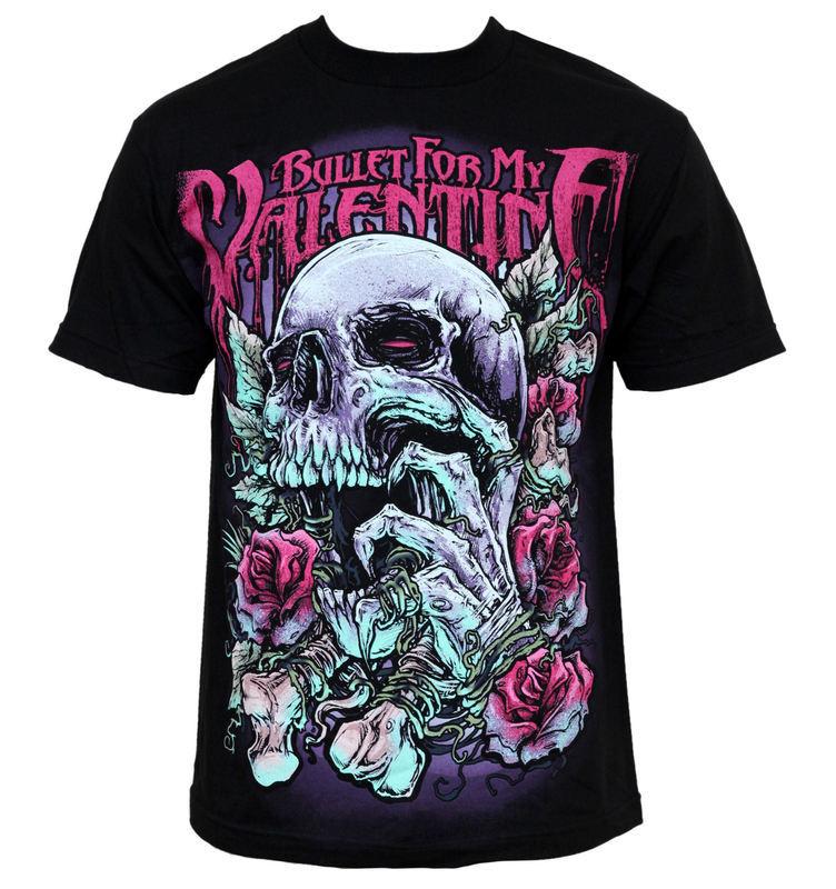 tričko pánské Bullet For My Valentine - Skull RD - BRAVADO - BFMVTS02