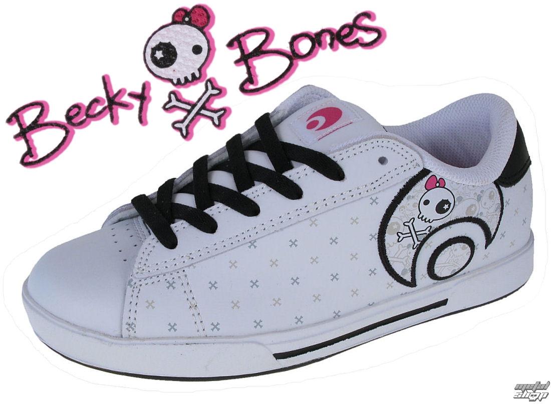 boty dámské OSIRIS - Serve Icon Girls - White/B.Bones