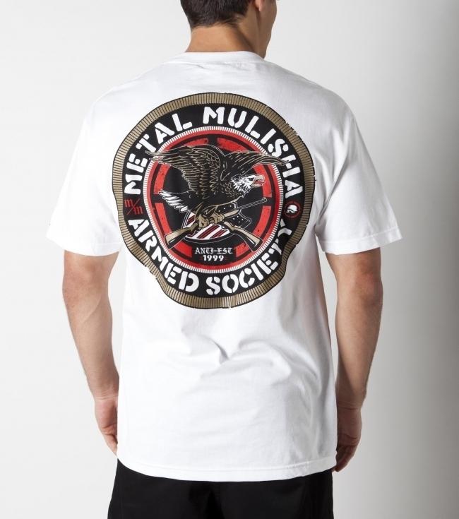 tričko pánské METAL MULISHA - Association - Wht - M125S18130