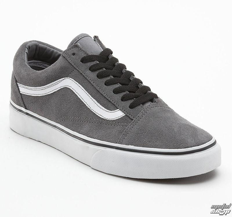 boty pánské VANS - Old Skool - Suede Steel Grey - True/White - VKW66ME