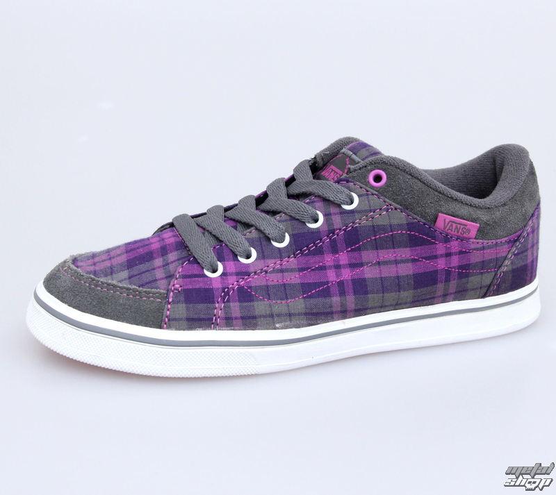 boty dámské VANS - Skyla - Plaid - Grey/Purple - VKXK6B1