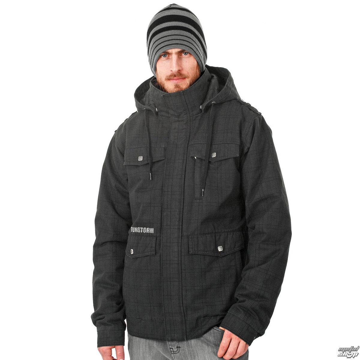 bunda pánská zimní -látková- FUNSTORM - Manir - 21 BLACK