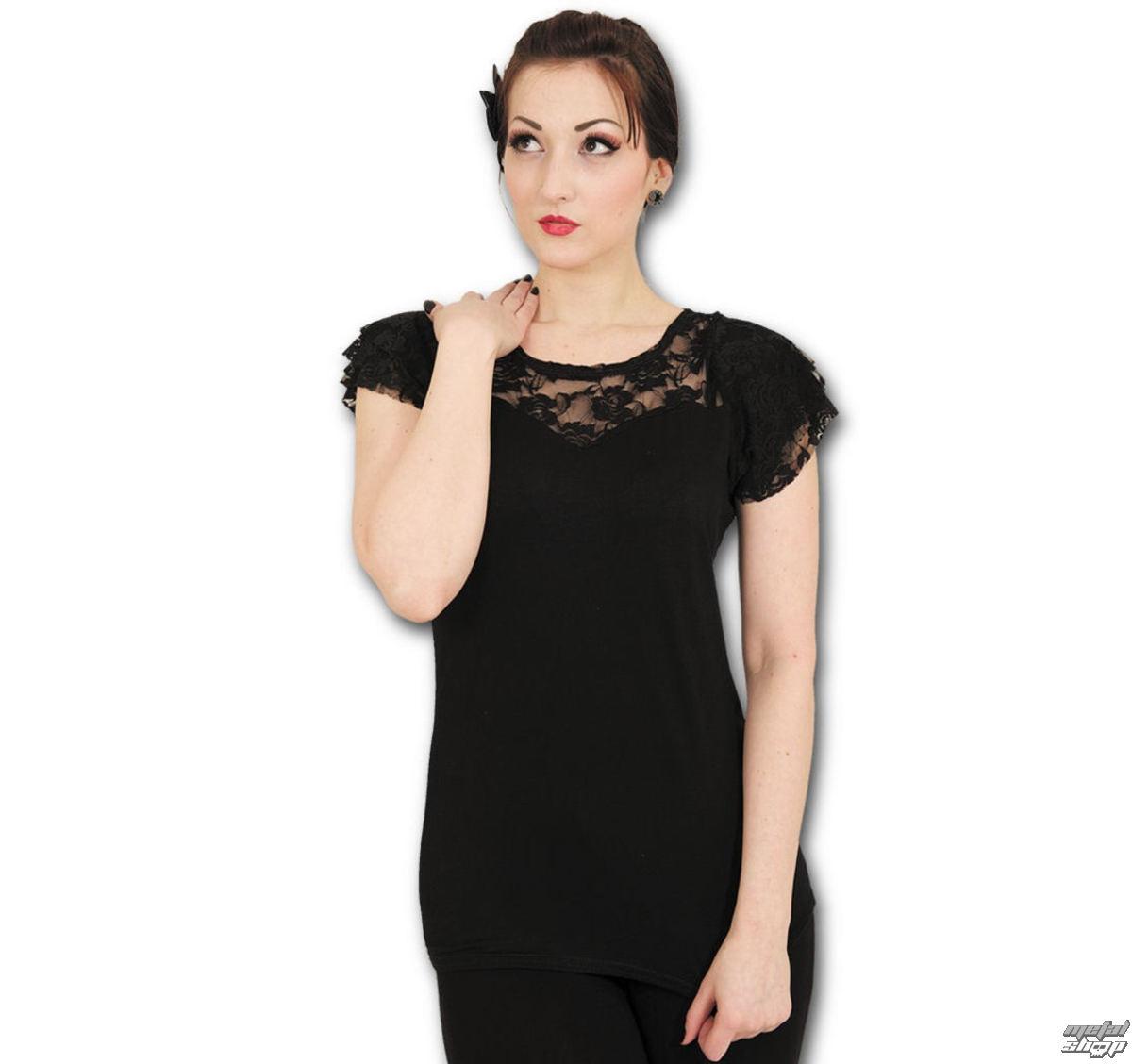 tričko dámské SPIRAL - Lace Layered - P001F721