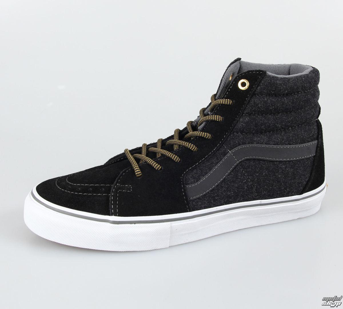 boty pánské VANS - SK8 HI PRO (Wool) - Black/Go - V99N775