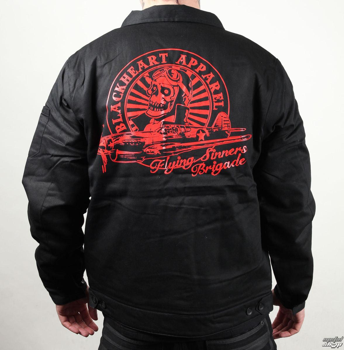bunda pánská jarně-podzimní BLACK HEART - Siners Brigade - Black